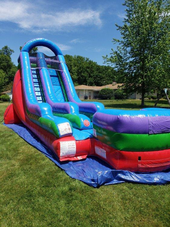 18' Multi Color Retro Wet or Dry Slide