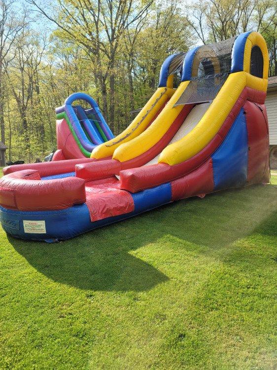15' Retro Multi Color Wet or Dry Slide
